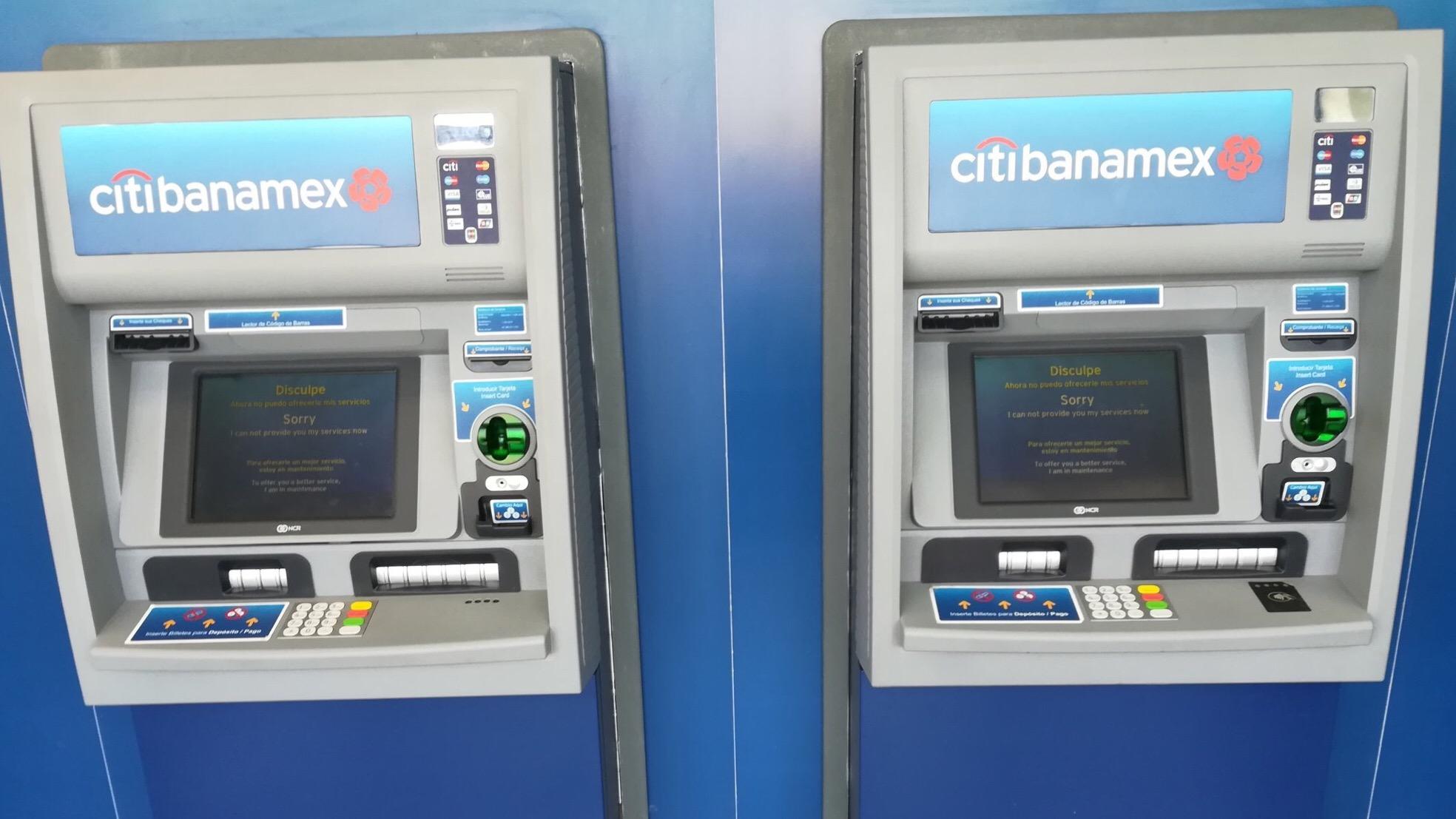 Cajeros y sistema de Citibanamex fallan por mantenimiento