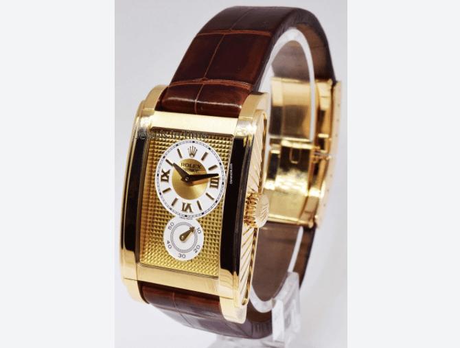 """748fd3bfa97a Con el paso del tiempo este estilo rectangular se convirtió en una de las  líneas de lujo de Rolex llamada """"Cellini"""" que hoy en día toma la posición  del ..."""
