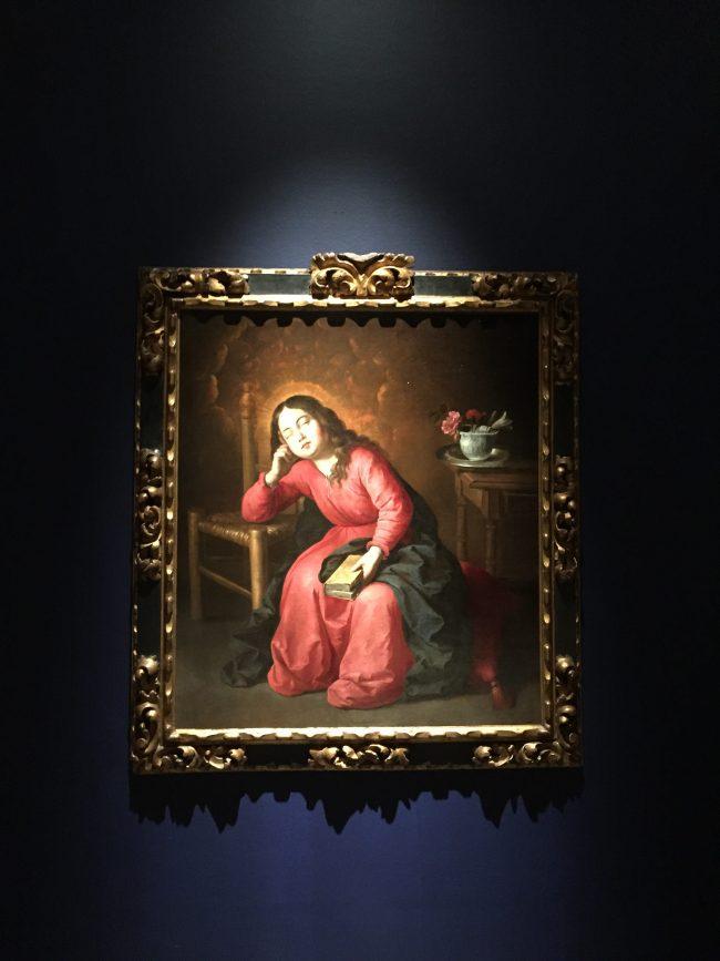 El instante de mirar el cuadro. La Virgen Maria Dormida de Zurbarán