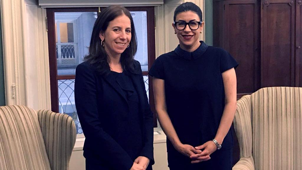 Vanessa Rubio y subsecretaria del Tesoro discuten terrorismo y lavado