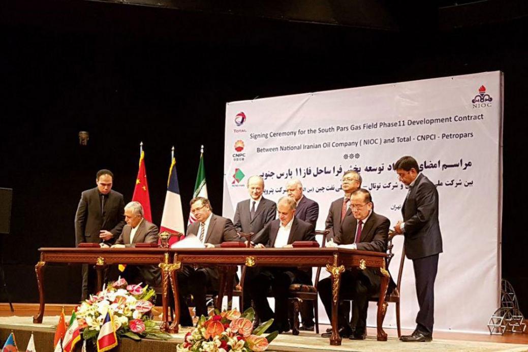Petrolera Total vuelve a Irán para explotar gas