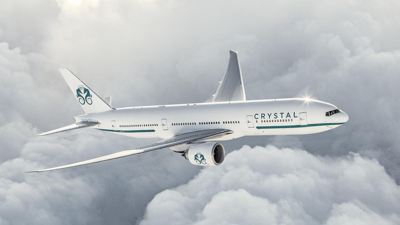 Crystal lanza su avión privado que rompe con todo lo preestablecido