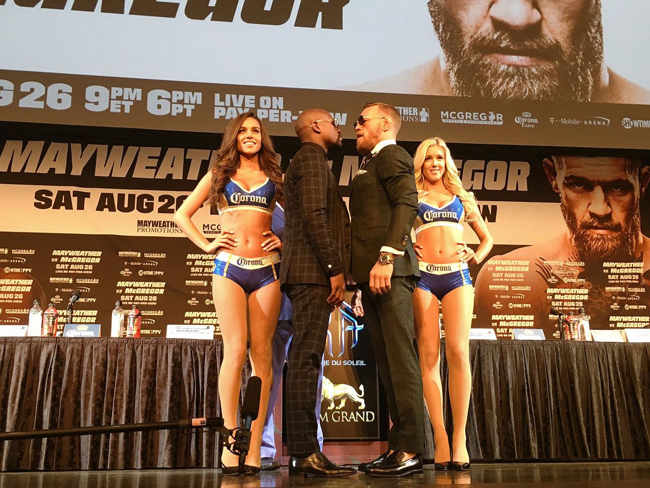 Mayweather y McGregor guardan energía para la pelea del sábado