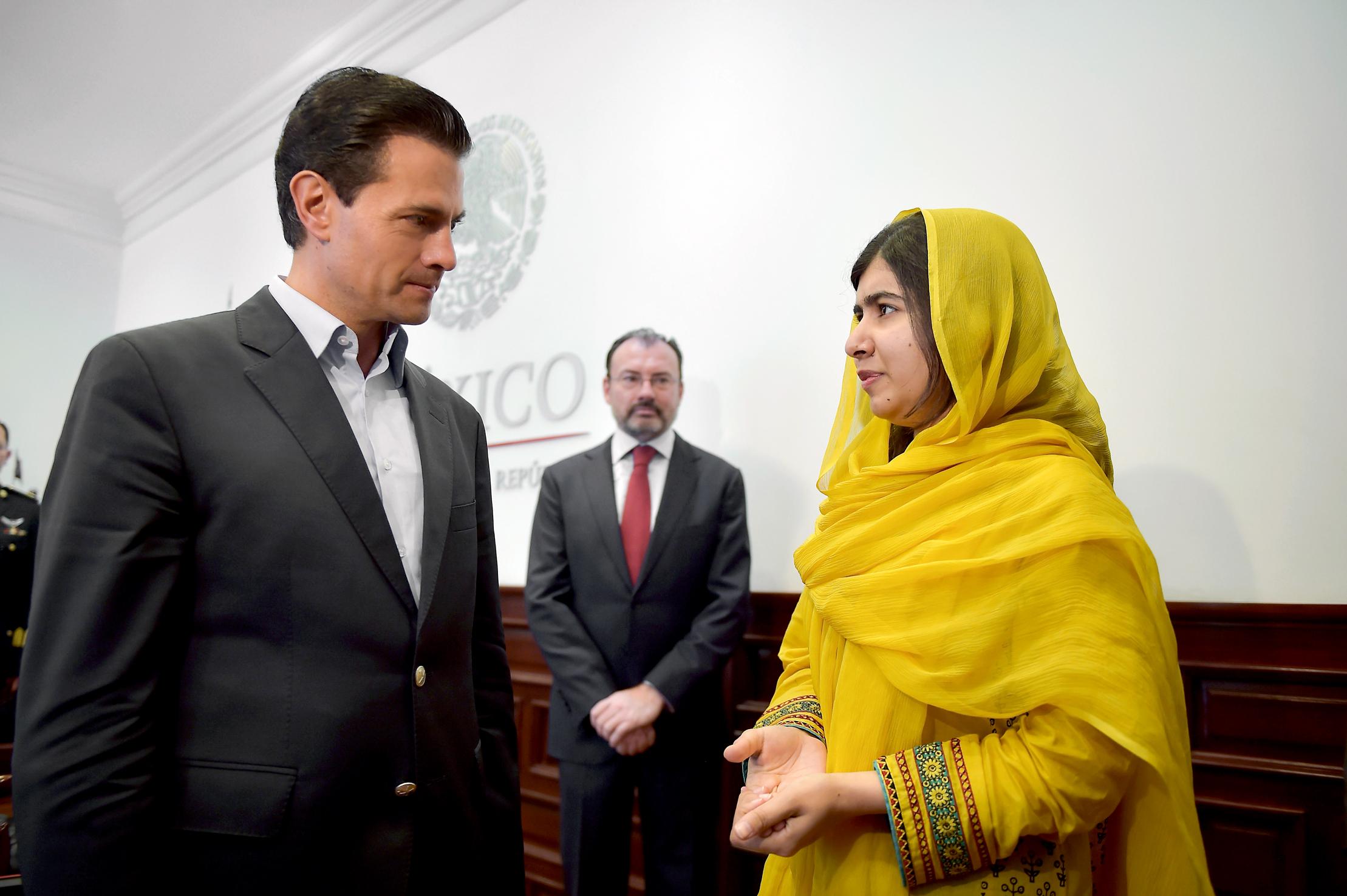 Malala Yousafzai se reúne con Peña Nieto