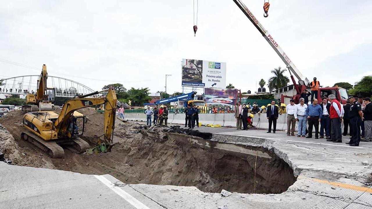 Protección Civil de Morelos advierte nuevos riesgos en el Paso Exprés