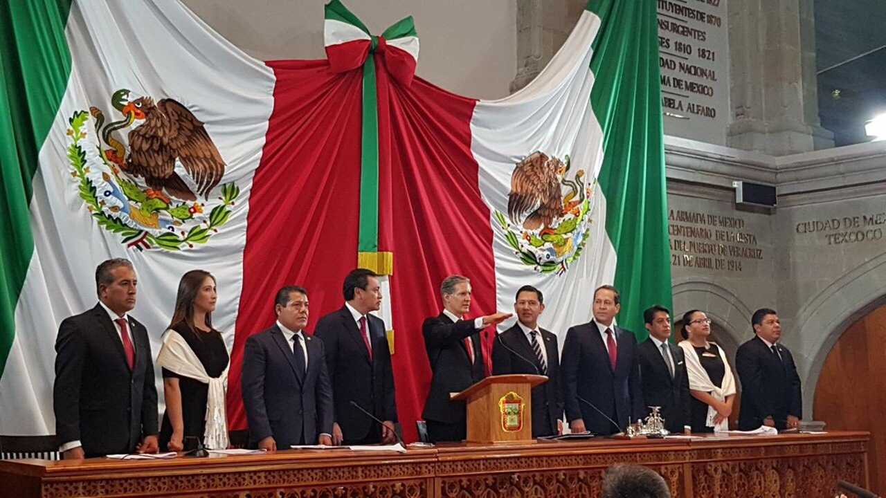 Del Mazo rinde protesta como gobernador del Estado de México