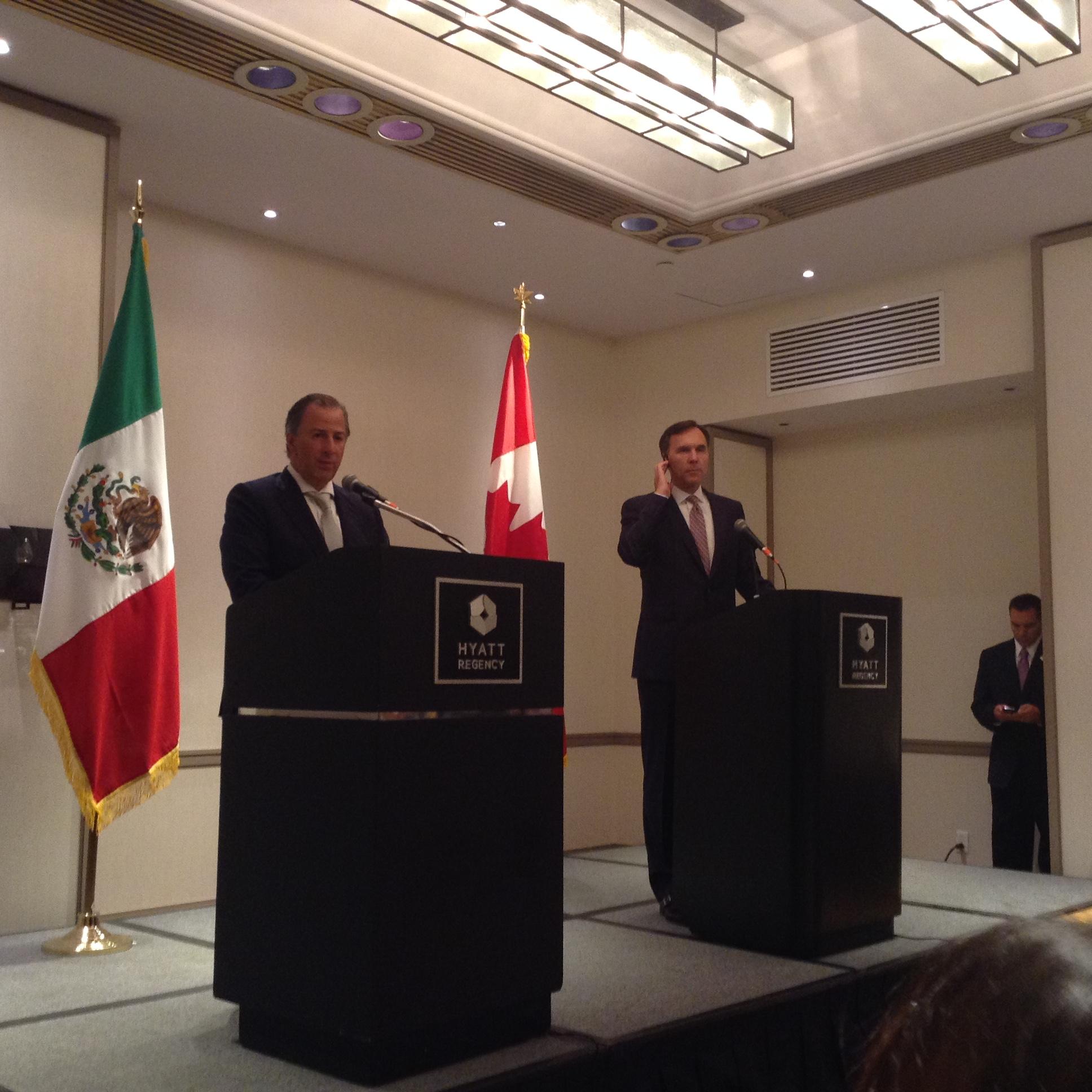 México y Canadá confían en buenos resultados de TLCAN