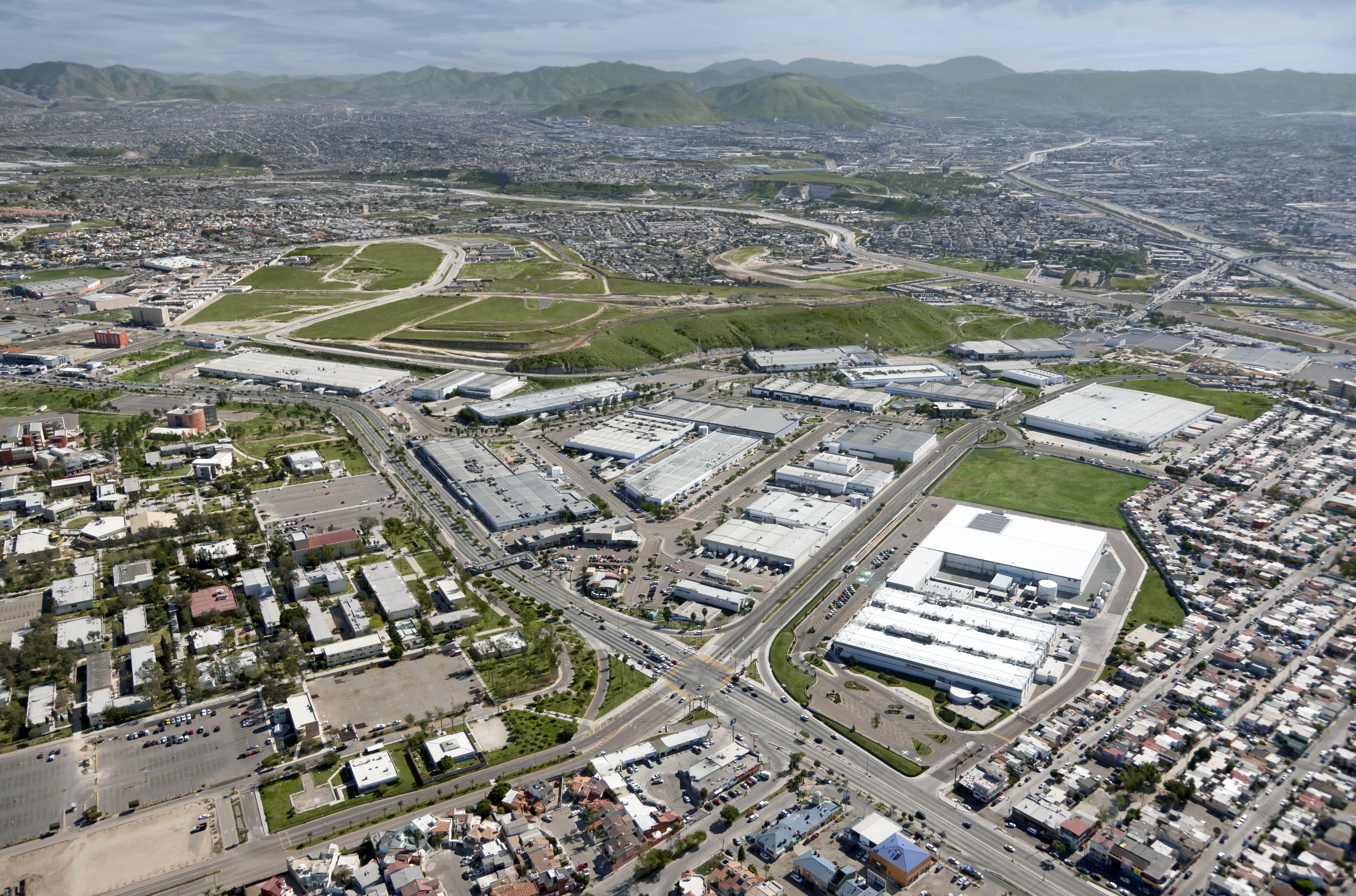 La franja fronteriza con EE UU: ubicación preferente de los parques industriales