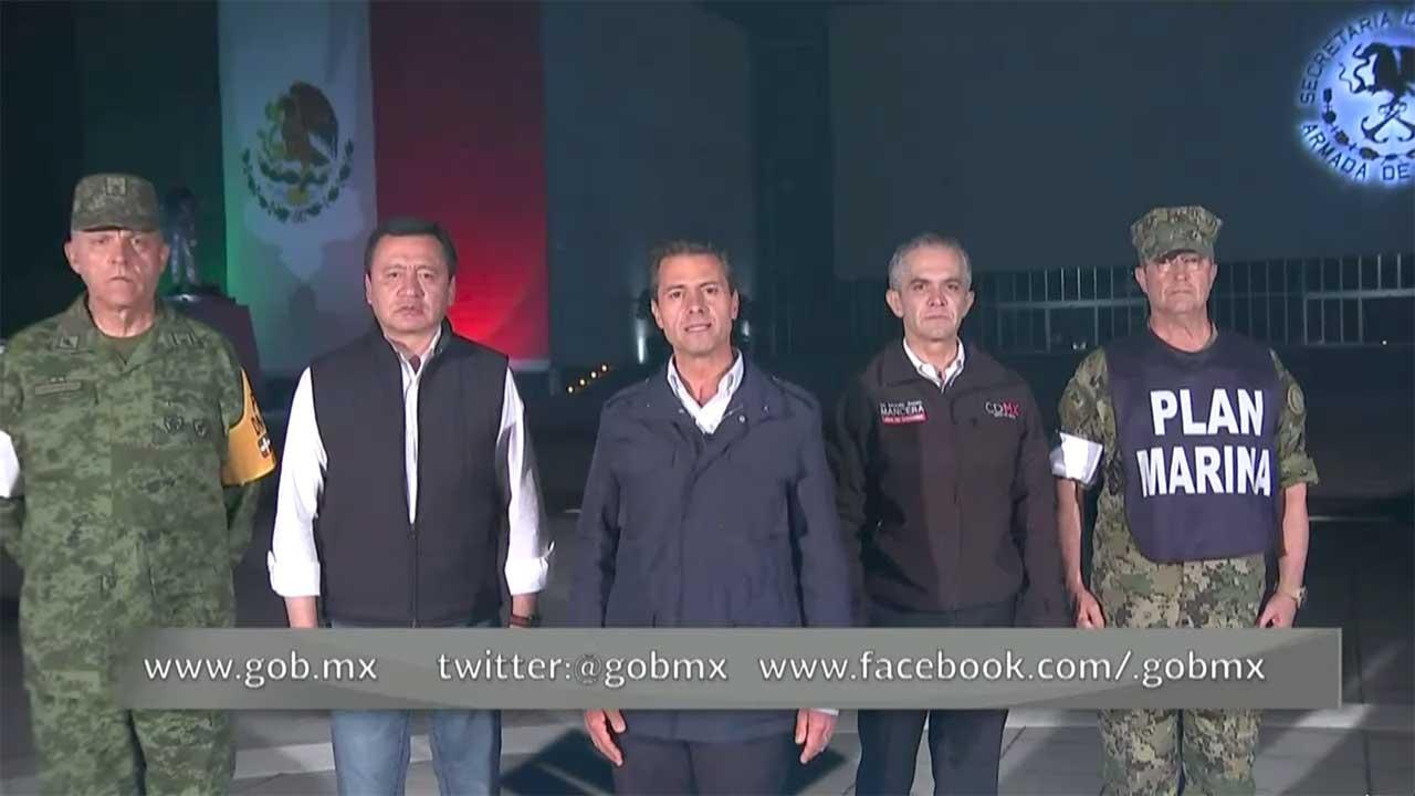 La prioridad, rescatar a quienes continúan atrapados: EPN