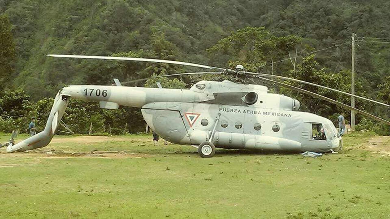 Helicóptero de Sedena cae en Chiapas; sobreviven tripulantes