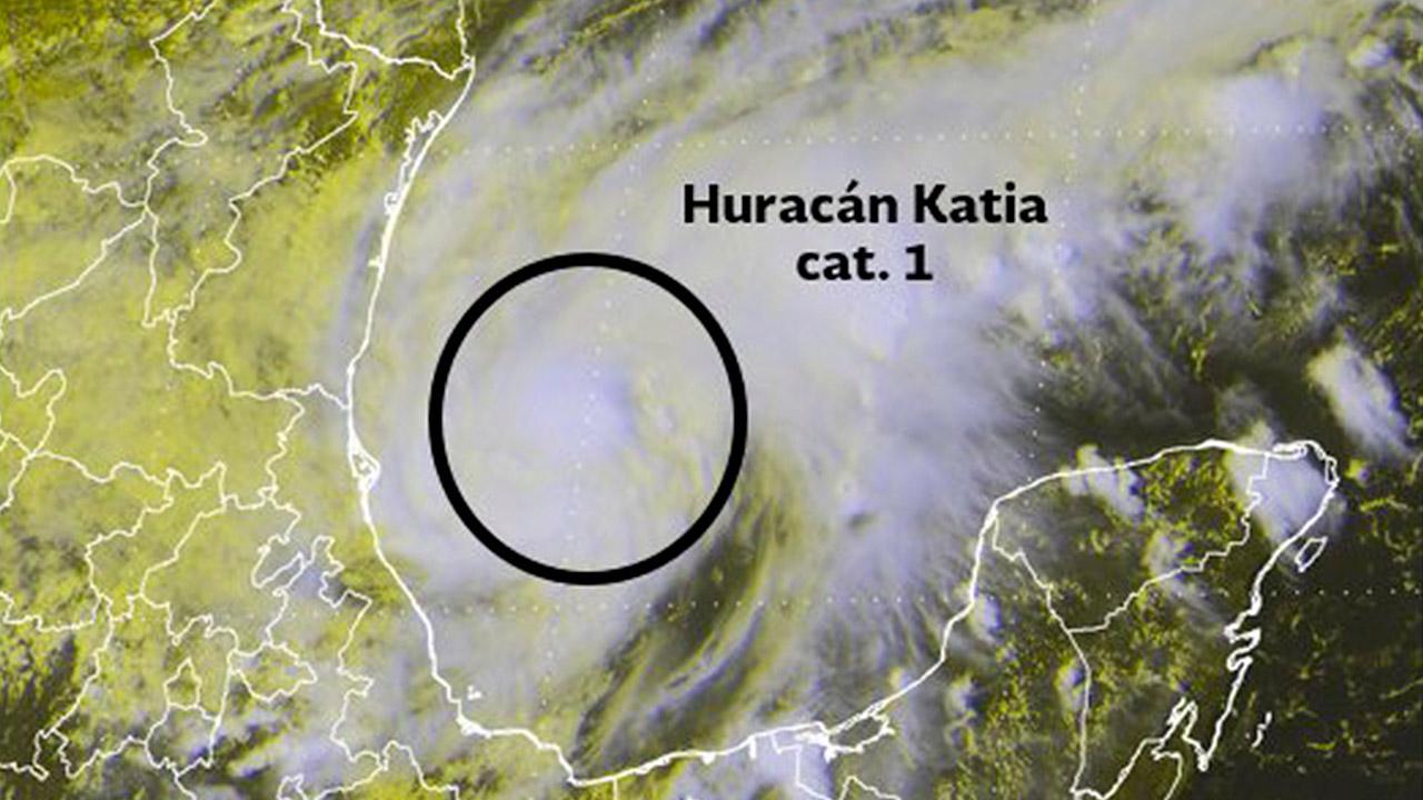 José y Katia se convierten en huracanes categoría uno