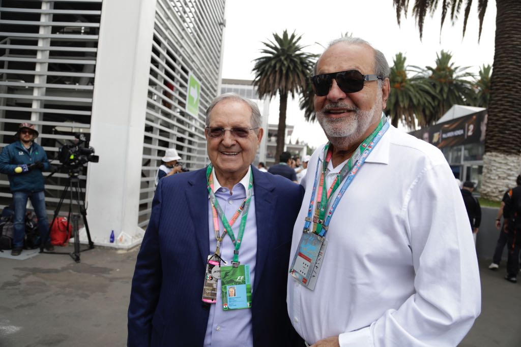 Slim Helú y Vázquez Raña disfrutan de la F1