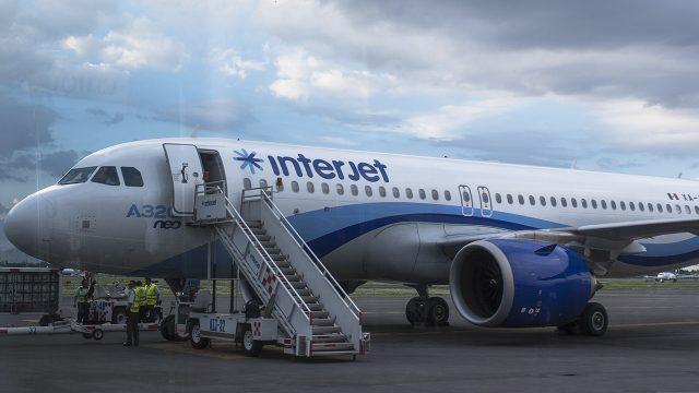 Avión de interjet en aeropuerto de la CDMX. (Foto: Angélica Escobar/ForbesMx.)