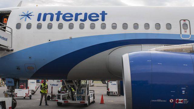 Avión de Interjet en el Aeropuerto de la CDMX. (Foto: Angélica Escobar/ForbesMx)