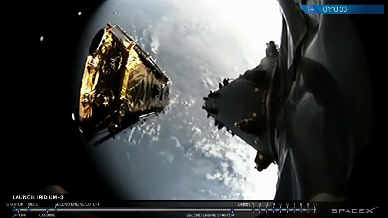 SpaceX pone en órbita 10 satélites de Iridium