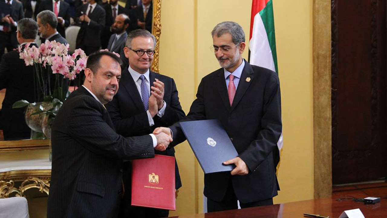Costa Rica y Emiratos Árabes Unidos firman acuerdo para promover inversiones