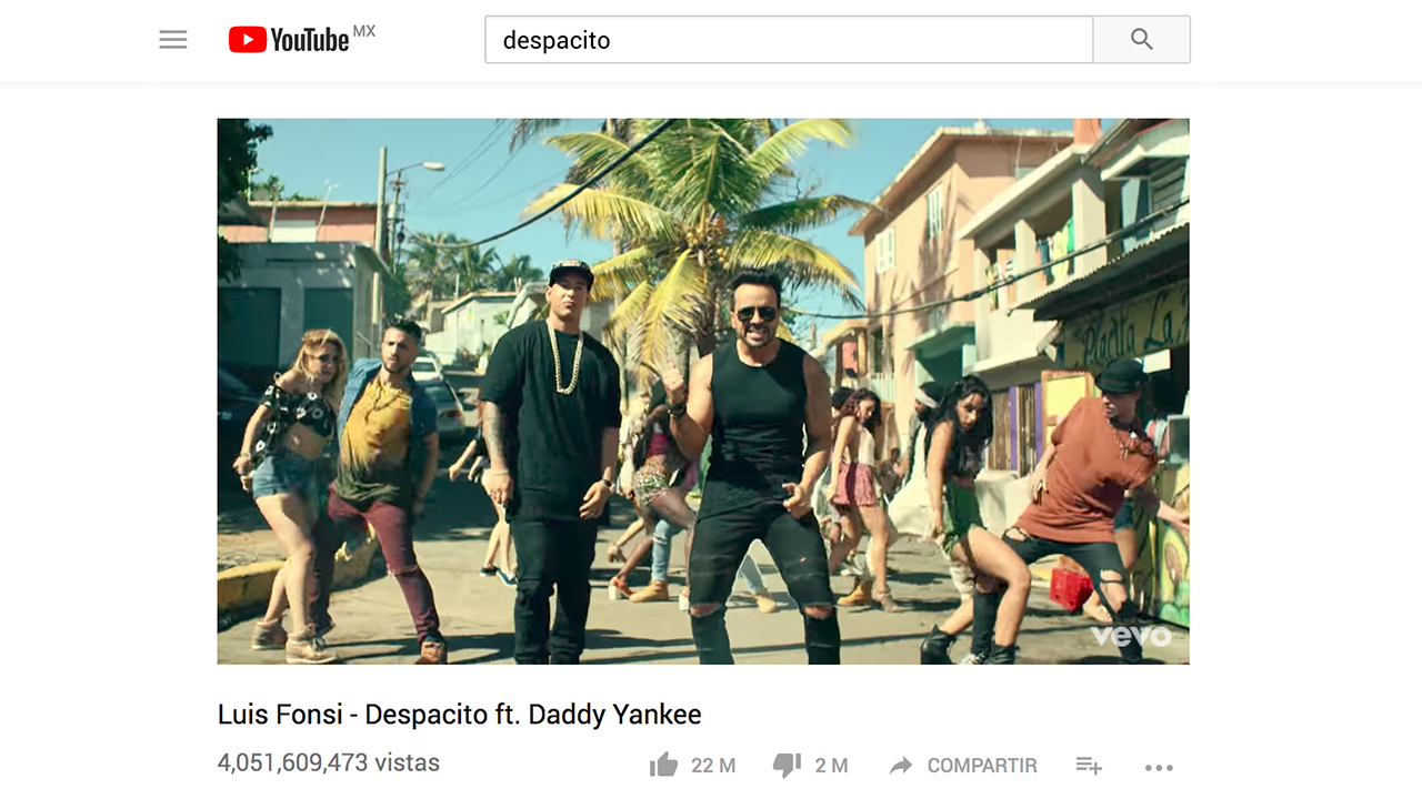 Hackers borran 'Despacito' de YouTube por unas horas