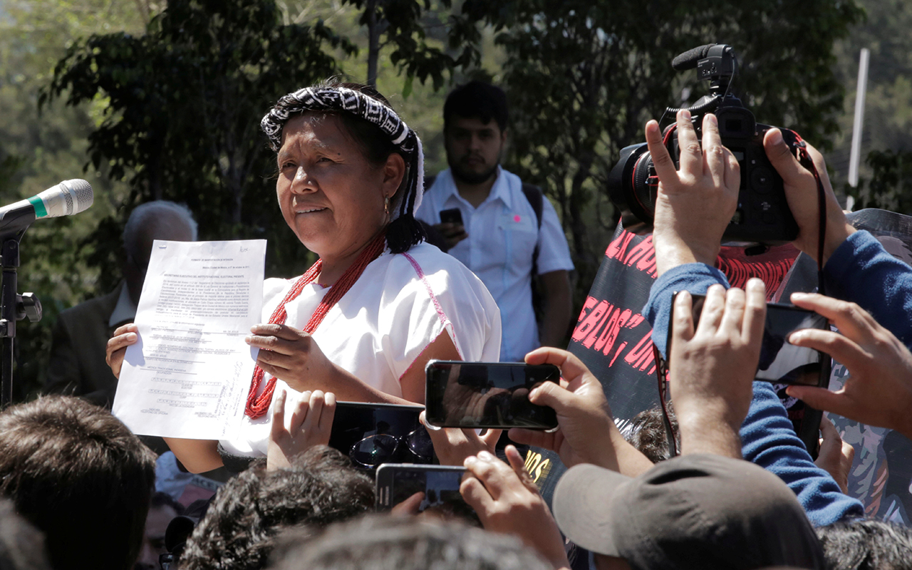 Vocera zapatista buscará la presidencia como candidata independiente