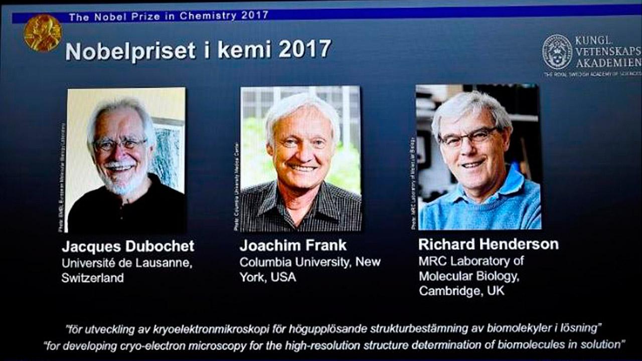 Ganan Nobel de Química 2017 por capturar imágenes de biomoléculas