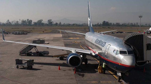 Avión de Aeroméxico, en el Aeropuerto Internacional de la CDMX. (Foto: Angélica Escobar/Forbes México).