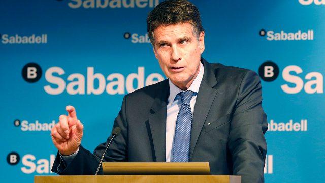 Jaime Guardiola, consejero delegado de Grupo Banco Sabadell. Foto: Reuters.