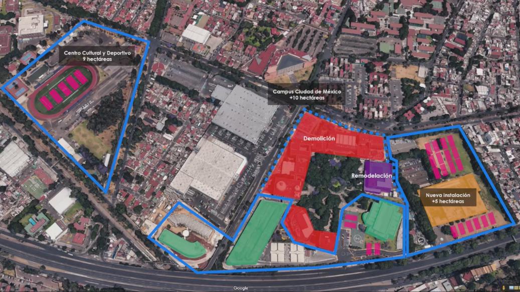 Tec de Monterrey reconstruirá Campus Ciudad de México
