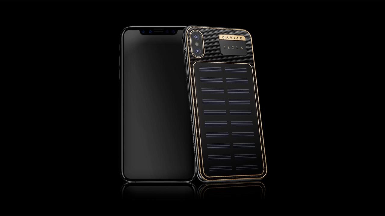 Empresa rusa lanza un iPhone X de 4,000 dólares con panel solar en el reverso