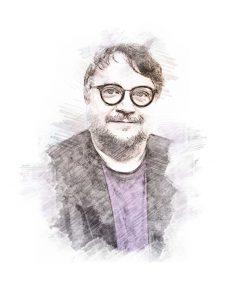 Guillermo del Toro. Ilustración digital sobre una fotografía de Sylvain Lefevre/Getty Images.