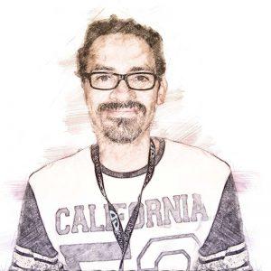 Humberto Ramos. Ilustración digital sobre una fotografía de Luigi Novi.