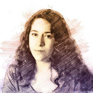 Lucía Carreras. Ilustración digital sobre una fotografía de Cinedepatio.