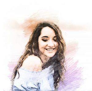 Martha Lorena Perló. Ilustración digital sobre una fotografía de Fernando Luna Arce/Forbes.