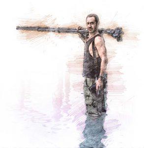 Pepe Soho. Ilustración digital sobre una fotografía de cortesía del creativo.