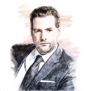 Santiago García Galván. Ilustración digital sobre una fotografía de Santiago García Galván.