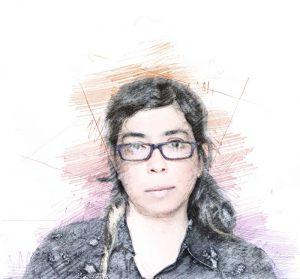 Tatiana Huezo. Ilustración digital sobre una fotografía cortesía de la creativa.