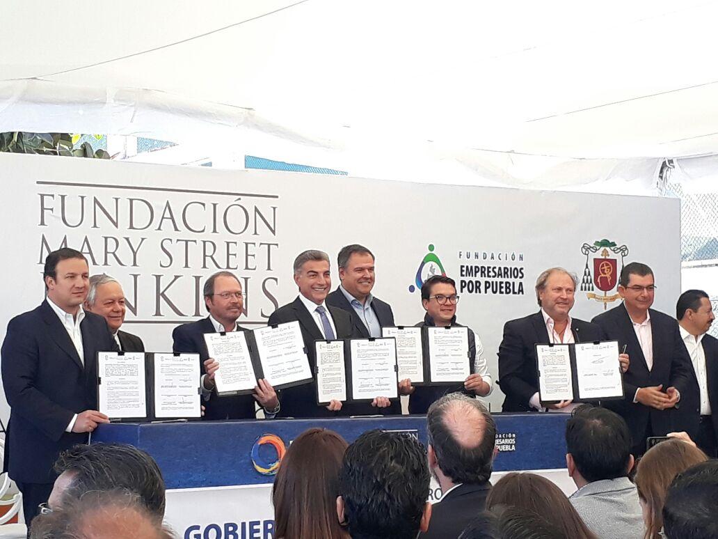 Fundación Mary Streets Jenkins dona 50 mdp para reconstrucción en Puebla