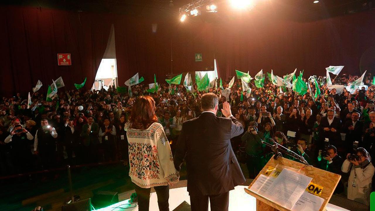 Partido Verde arropa a Meade hacia la presidencia