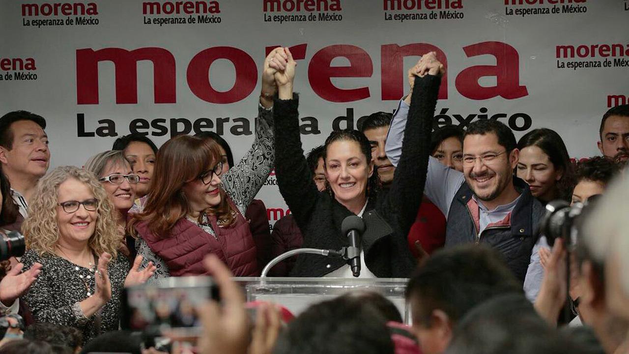 Sheinbaum se registra como aspirante a la Jefatura de la Ciudad de México