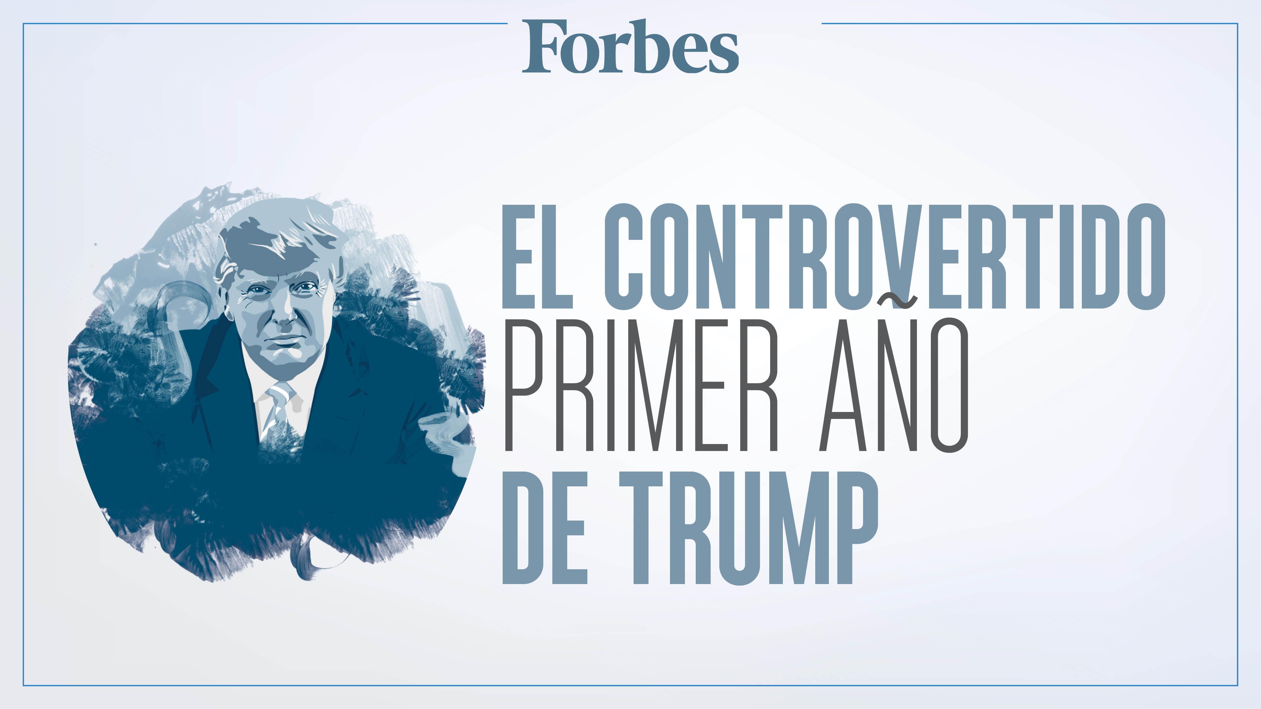 Infografía | Polémicas y conflictos de Trump en su primer año