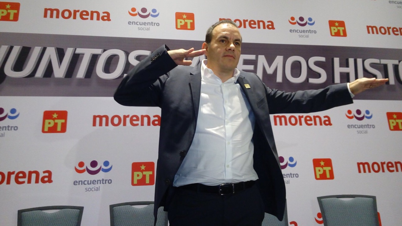 Cuauhtémoc Blanco recibe constancia como gobernador electo de Morelos