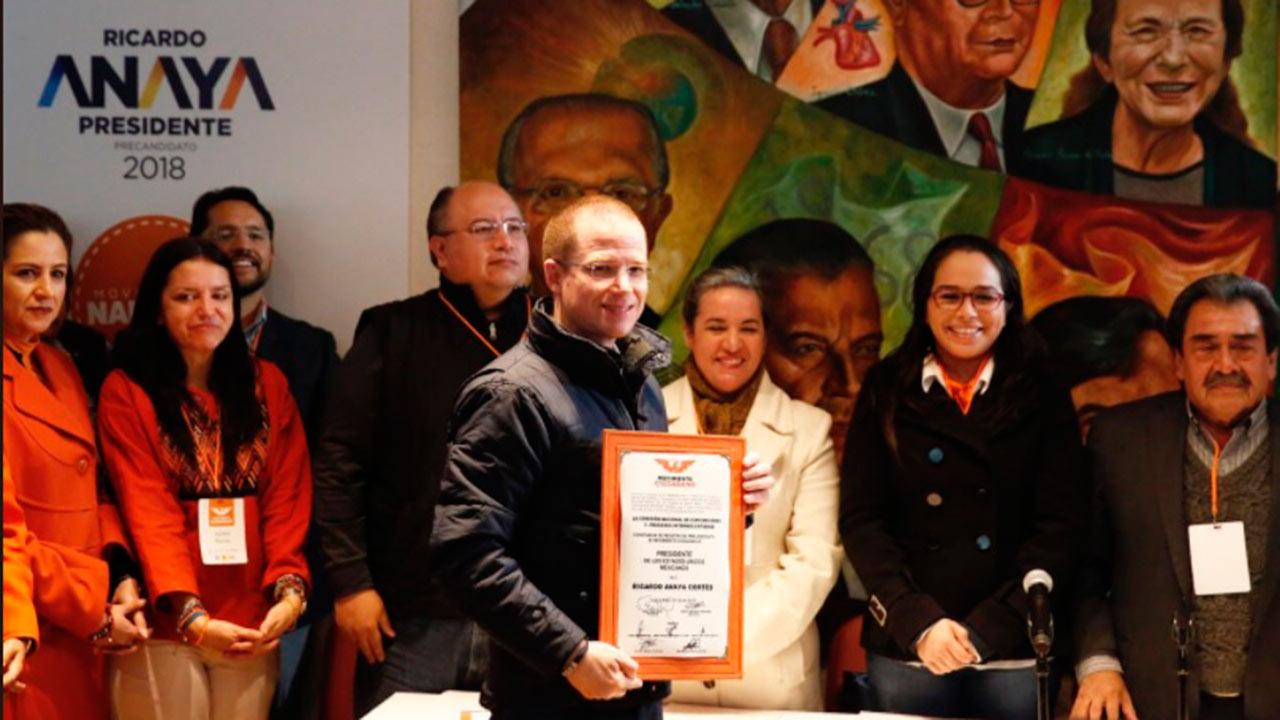 Anaya se registra como precandidato de Movimiento Ciudadano