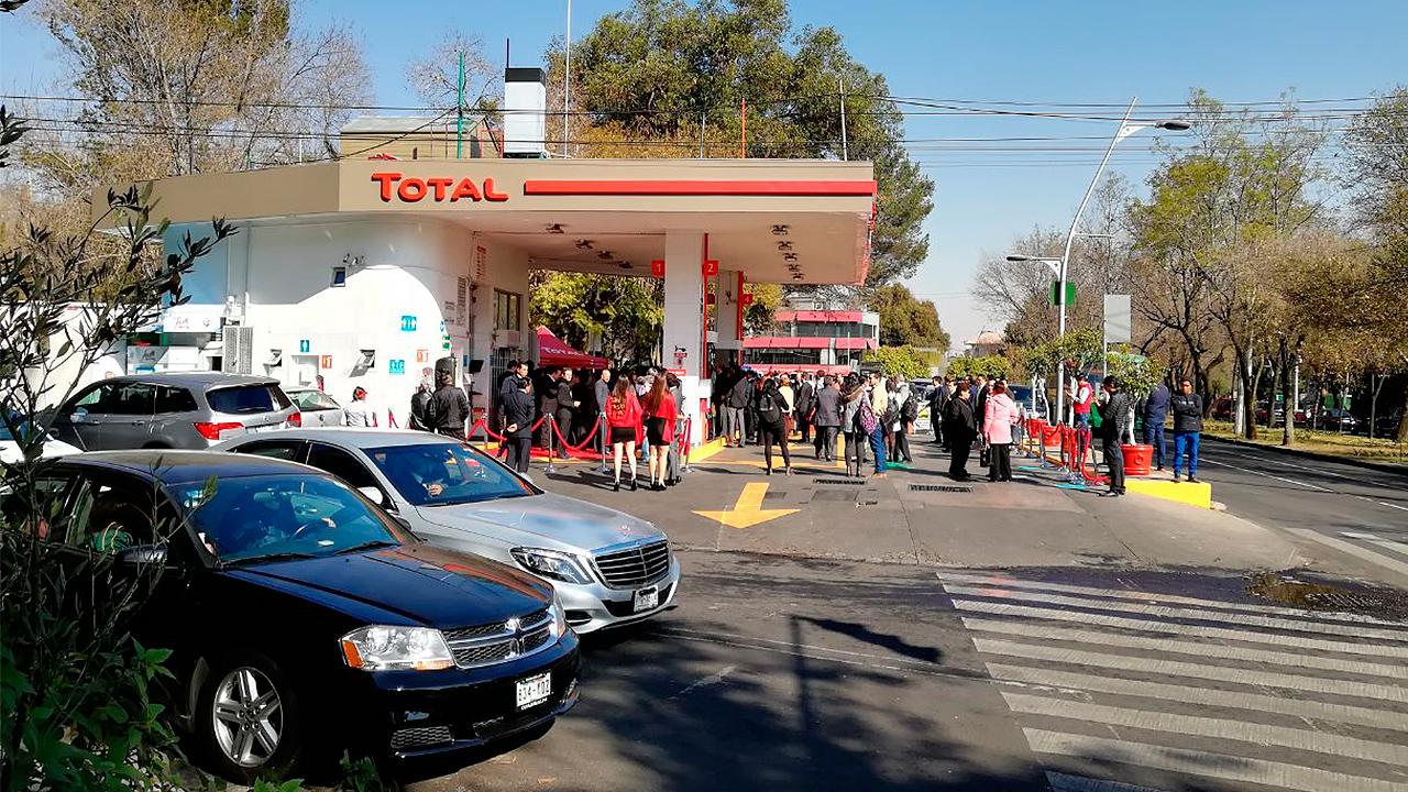 Total inaugura su primera gasolinera en México