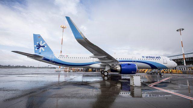 Airbus A321neo de Interjet. Foto: Cortesía.