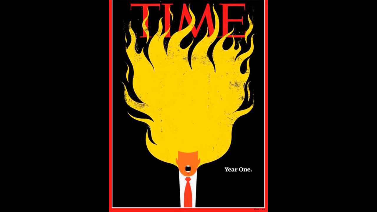 Trump 'incendia' la portada de la revista Time
