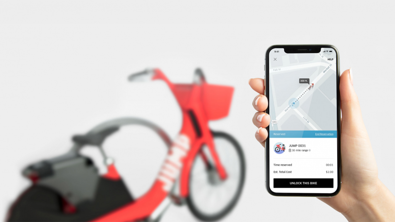 Uber se sube a la ola de las bicicletas compartidas