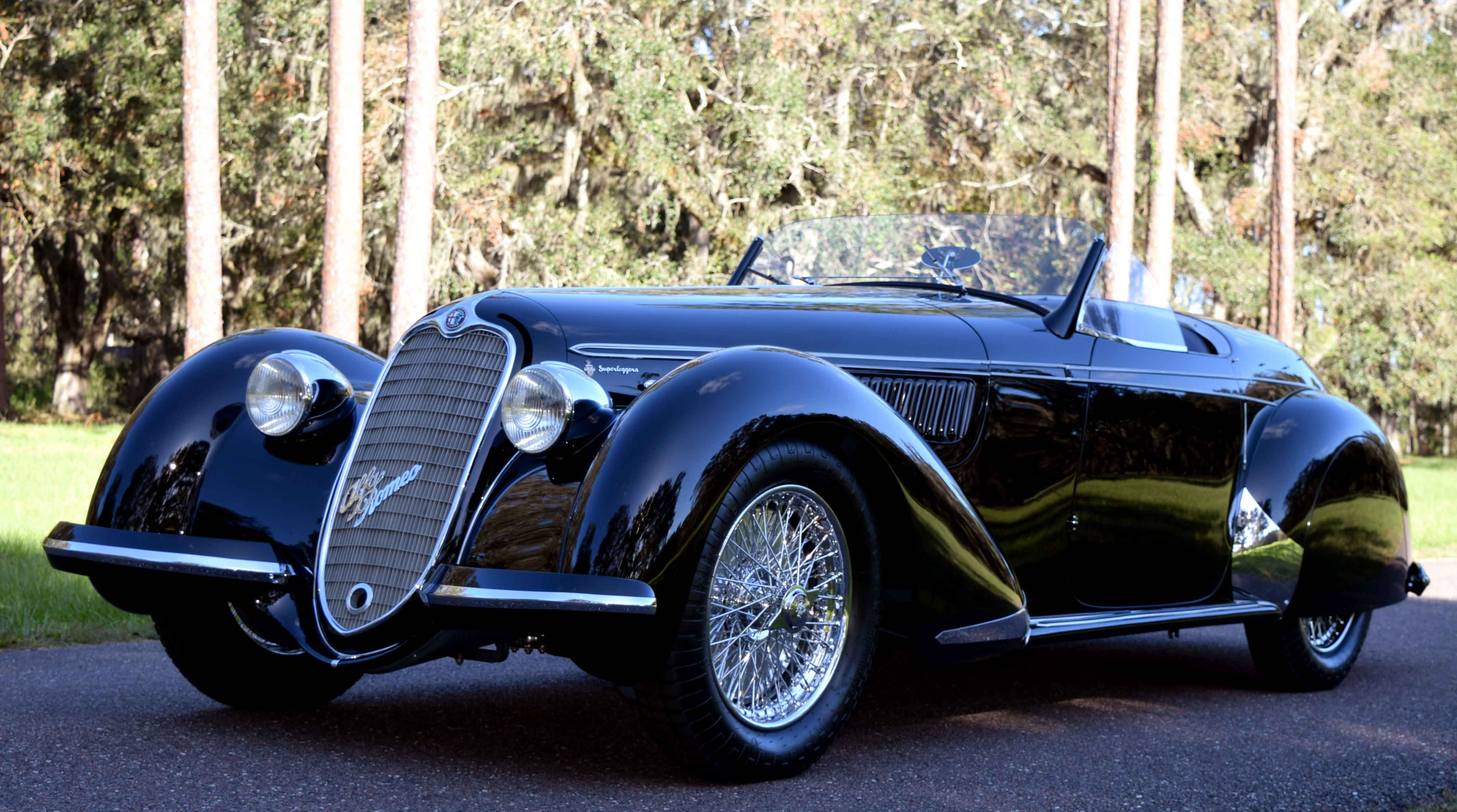 autos clásicos, Peninsula, Peninsula Classics Best of the Best Award, 1939 Alfa Romeo 8C 2900B Spider