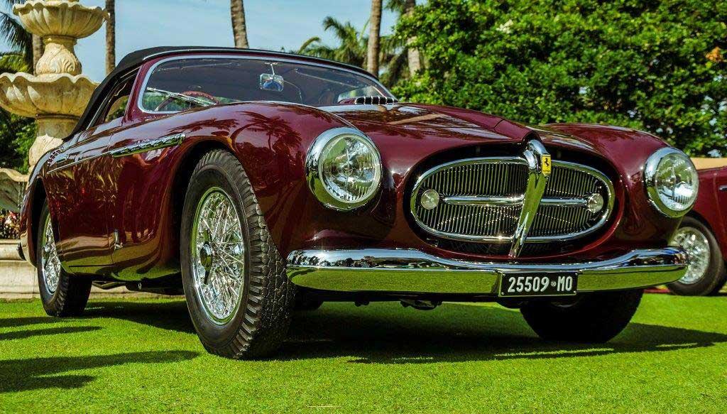 autos clásicos, 951 Ferrari 212 Export Cabriolet de Vignale, Peninsula Classics Best of the Best Award
