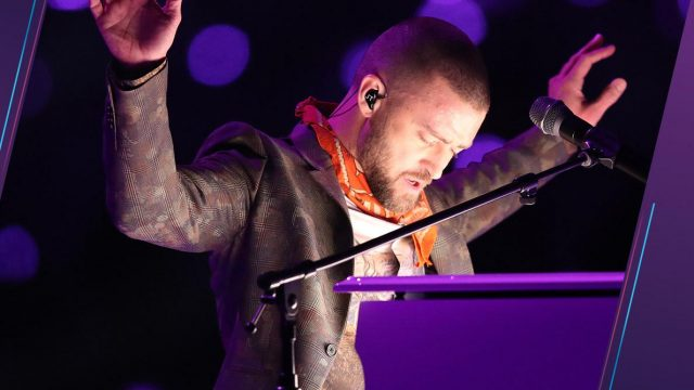 Justin Timberlake en el Super Bowl LII