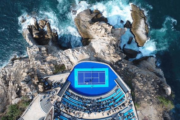 Zverev y Thiem brindan exhibición de tenis en La Quebrada, Acapulco