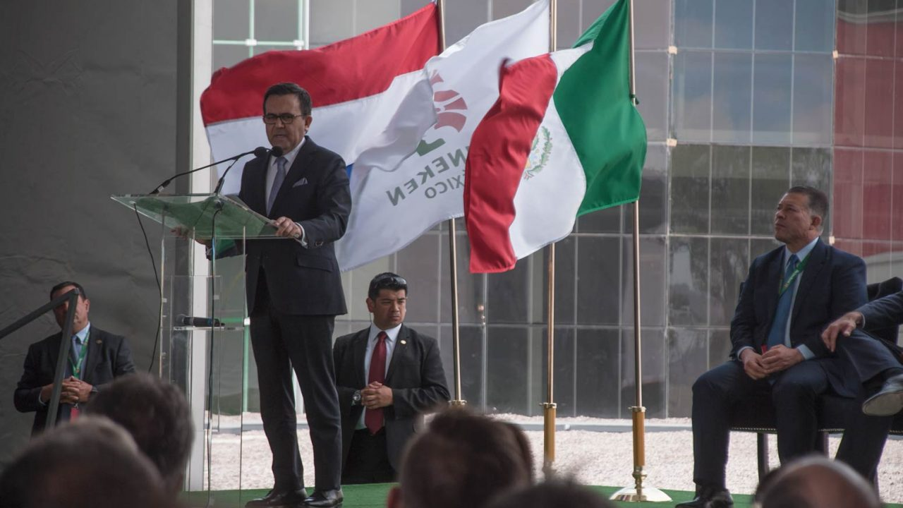 Ildefonso Guajardo, Srio. de Economía de México presente en la ceremonia de inauguración en representación de presidencia. (Foto: Angélica Escobar/Forbes México).