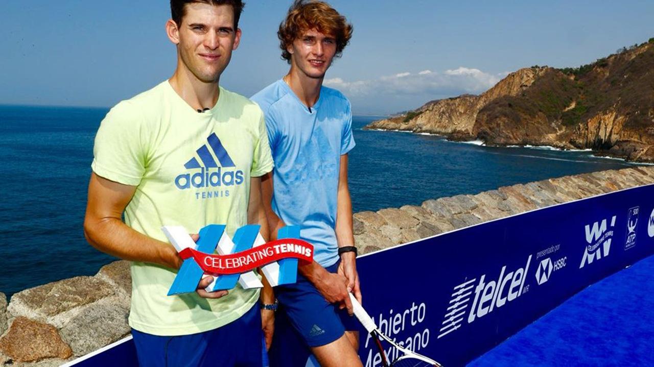 Zverev y Thiem brindan exhibición de tenis en Sinfonía del Mar, Acapulco